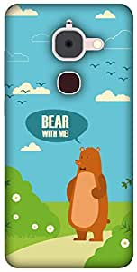 The Racoon Grip printed designer hard back mobile phone case cover for Letv Le 2. (Bear with)