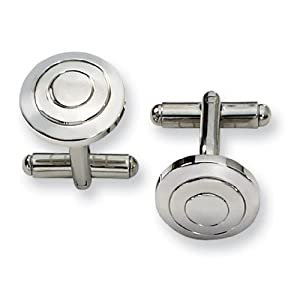 Stainless Steel Cuff Links - JewelryWeb