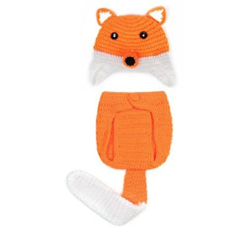 ANKKO Fashion Baby Girl Boy Knit Photo Props Fox Costume Design