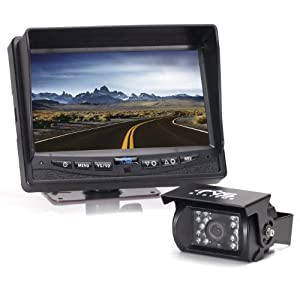 "Rear View Safety 7"" LCD Color Backup Camera System with Audio"