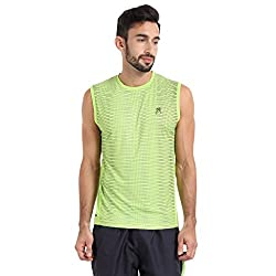 Proline Active Men's Synthetic T-Shirt (8907007330432 _63001510008_Large_Mid Green)