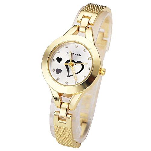 jsdde femme montre bracelet gourmette alliage el gante a quartz rond motif coeur cristal. Black Bedroom Furniture Sets. Home Design Ideas