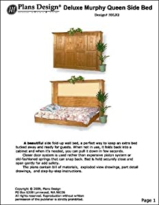 side murphy wall queen bed project plans