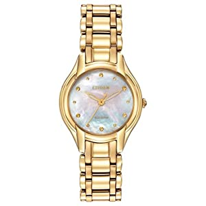 Citizen Women's EM0282-56D Silhouette Analog Display Japanese Quartz Gold Watch