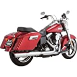 Vance & Hines Twin Slash 2-Into-1 Slip-On - Chrome , Color: Chrome 16801