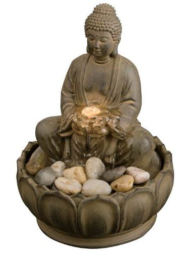 EnviraScape Buddha Tabletop Fountain