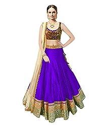 Astha fashion Purple banglore silk bridal semi sttiched lehenga choli