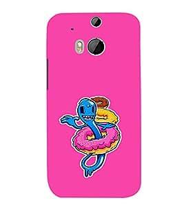 EPICCASE Pink Worm Mobile Back Case Cover For HTC One M8 (Designer Case)