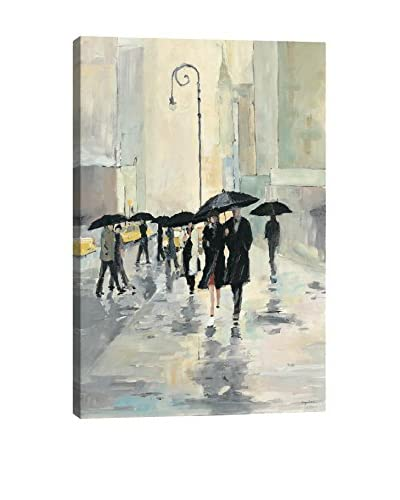 Avery Tillmon City in the Rain Gallery Wrapped Canvas Print