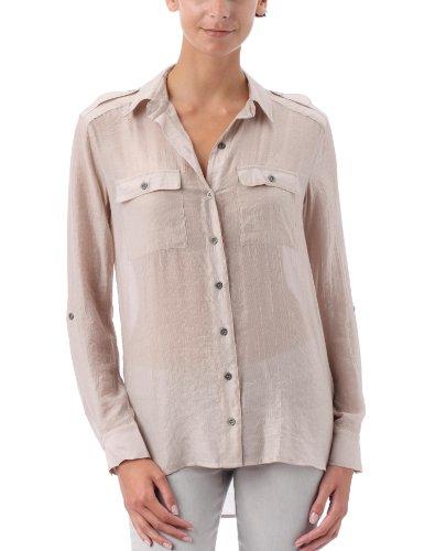 Quiksilver Shimmer Shirt - Camicia da donna, Beige (beige), S