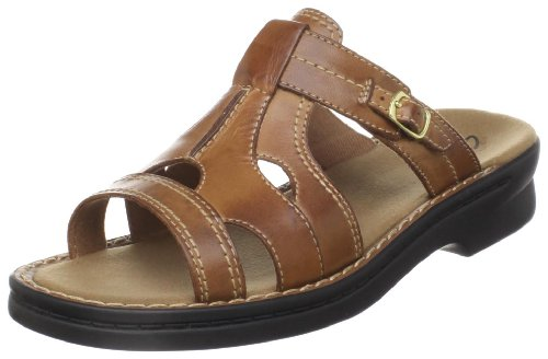 Clarks Women's Patty Argentina Sandal,Tan Leather,12 M US