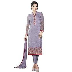 Pari Presents Grey Coloured Dress Material