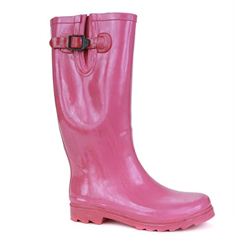 Twisted Women's DRIZZY Tall Cute Rubber Jelly Rainboots- PINK, Size 9 (Women Rain Boots Pink compare prices)