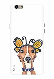 Noise Designer Printed Case / Cover for Oppo F1s / Animated Cartoons / Dog And Butterfly