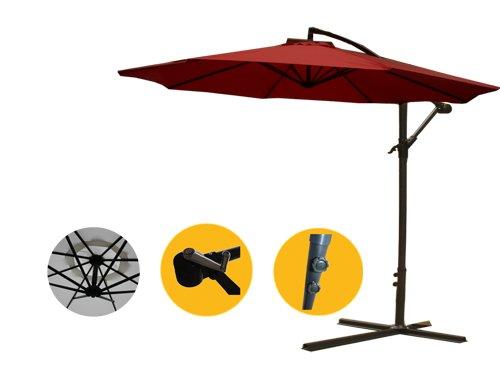 3 Meter Sonnenschirm Gartenschirm Ampelschirm Schirm Inkl. Schirmständer GHU30R