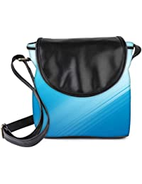 Snoogg Blue Pattern Design Womens Sling Bag Small Size Tote Bag