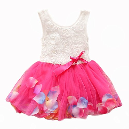 EGELEXY Toddler Baby Kids Girls Princess Party Tutu Lace Bow Flower Dresses