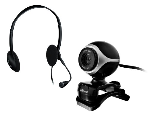 Trust Exis Chatpack Webcam + Headset schwarz