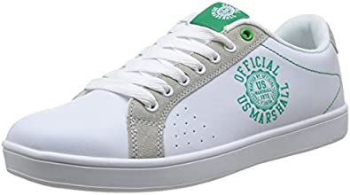 US Marshall Distil, Baskets mode homme - Blanc (Blanc/Vert), 41 EU