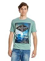 Lee Cooper Camiseta Manga Corta Dockport (Azul)