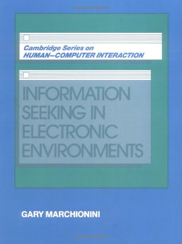 Information Seeking in Electronic Environments (Cambridge...