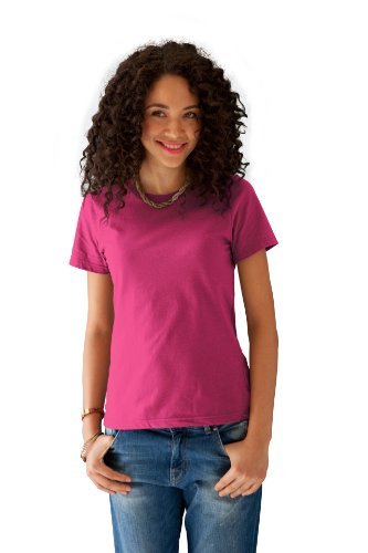 anvil Damen T-Shirt Regular Fit, 880, Gr. 34/36 (S), Pink (HPK-Hot Pink)