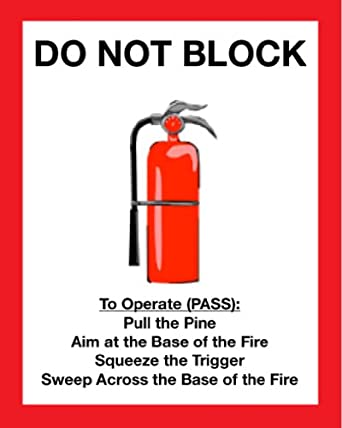 Mighty Line FE2436 Fire Extinguisher Floor Sign 24-Inch by