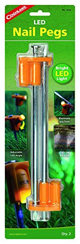 Coghlans LED Tent Nail Peg, 10-Inch (Commercial Tent Stakes compare prices)