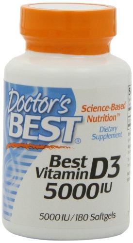 Doctors Best Vitamin D3 5000IU, 180 Softgels