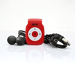 BMS Smart MP3 Music Player With 2GB Micro SD Card (Red)