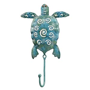 Ocean Sea Turtle Decor Leash Key Rack Metal Hook
