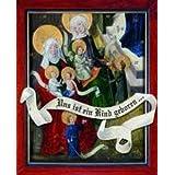 Uns ist ein Kind geboren: Fensterbild-Adventsk... für Erwachsene zum Bild vom Meister der Darmstädter Wurzel...