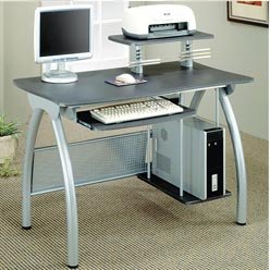 Buy Low Price Comfortable Desks Contemporary Computer Desk with Keyboard Tray and Computer Storage by Coaster (B0051PC1A6)