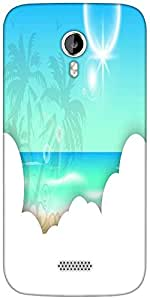 Snoogg abstract summer background Designer Protective Back Case Cover For Micromax A116