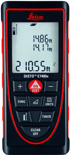 Leica Geosystems DISTO E7400x Laser Distance Meter, Red/Black