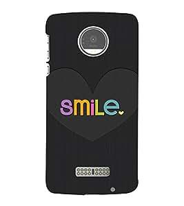 Smile in Love 3D Hard Polycarbonate Designer Back Case Cover for Motorola Moto Z :: Motorola Moto Z Droid