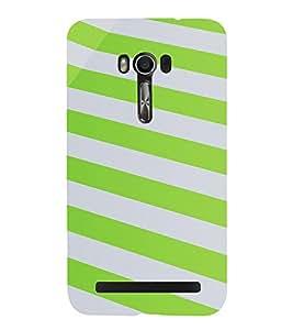 PrintVisa Stripes Pattern 3D Hard Polycarbonate Designer Back Case Cover for Asus Zenfone Go