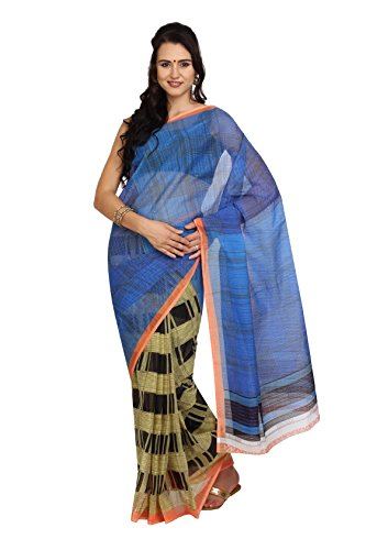 Parchayee Polka Dot Blue Synthetic Saree  available at amazon for Rs.310
