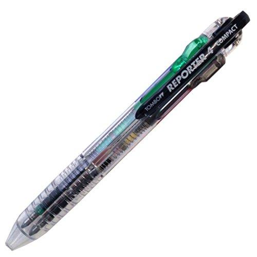 トンボ鉛筆 4色ボールペン リポーター4コンパクト FCB-133A 透明