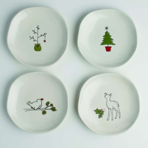 Amazon.com - Tag 751297 Woodland Ceramic Appetizer Plates ...