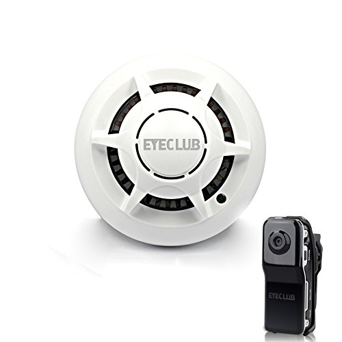 eyeclub wi fi smoke detector hidden camera with one more mini dv wireless p2p wi fi camera ip. Black Bedroom Furniture Sets. Home Design Ideas