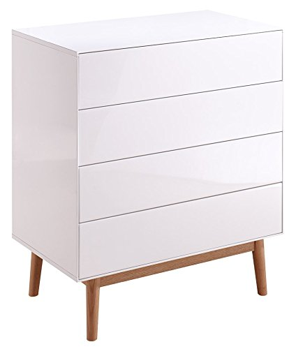 Sideboard-Kommode-Wei-Eiche-Wohnzimmer-Schlafzimmer-Elegant-Praktisch-Holz