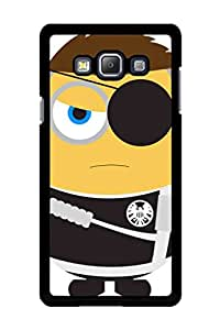 Caseque Minion Nick Fury Back Shell Case Cover for Samsung Galaxy A7