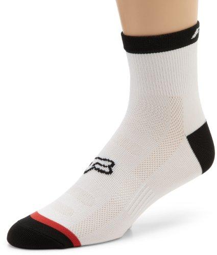 Fox Men's Trail 4 -Inch Sock, White, Large/X-Large