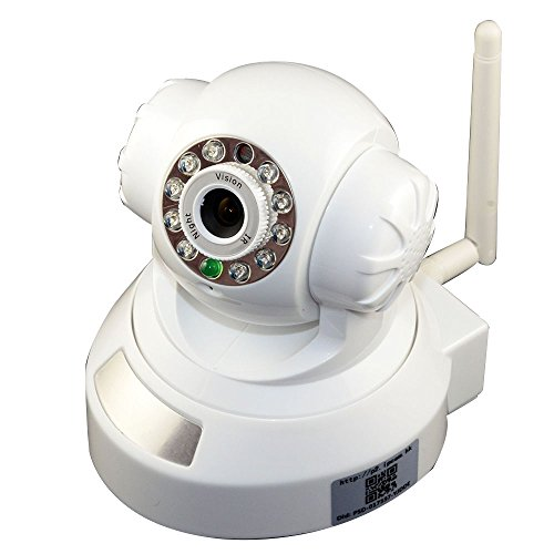 Wirelss Wifi Security Webcam Ip Camera Baby Monitor Watcher Mobile View Do White front-233588