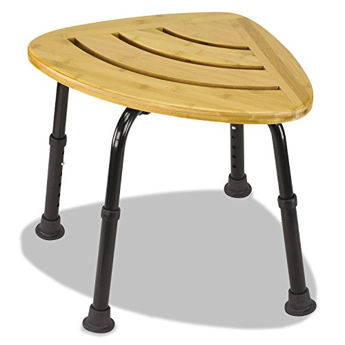 DMI Corner Bamboo Spa Bench and Shower Stool (Shower Seat Corner compare prices)