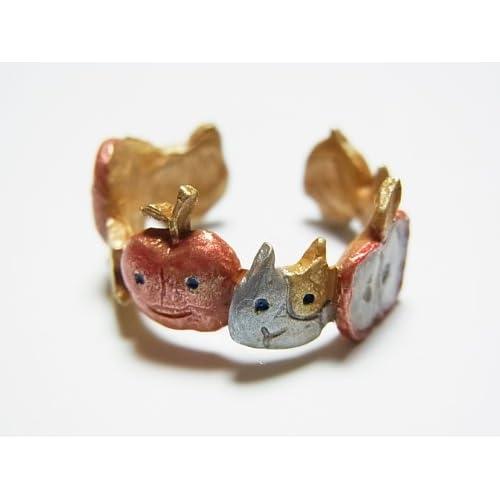 (パルナートポック)Palnart Poc 大団円 リング 林檎 リンゴ 猫 ネコ 指輪 アップル アニマル 動物 フルーツ 果物 アクセサリー 【Brough Superior/ブラフシューペリア】
