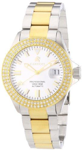 Carucci Watches Brindisi CA2200ST-BC - Reloj analógico automático para mujer, correa de acero inoxidable chapado multicolor (agujas luminiscentes)