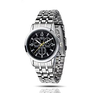 1PC Luxury Waterproof Stainless Steel Quartz Business Man Wrist Watch
