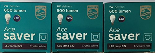 Ace-Saver-7W-LED-Bulb-(Crystal-White,-Pack-of-3)-